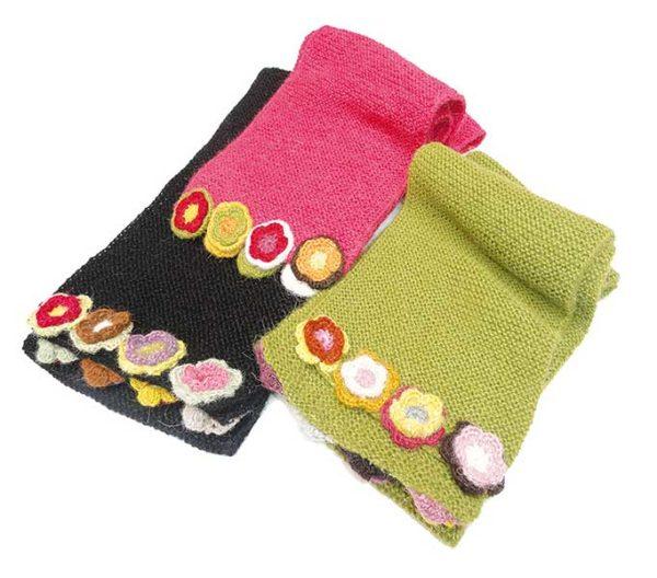 Écharpe à fleurs teinture naturelle