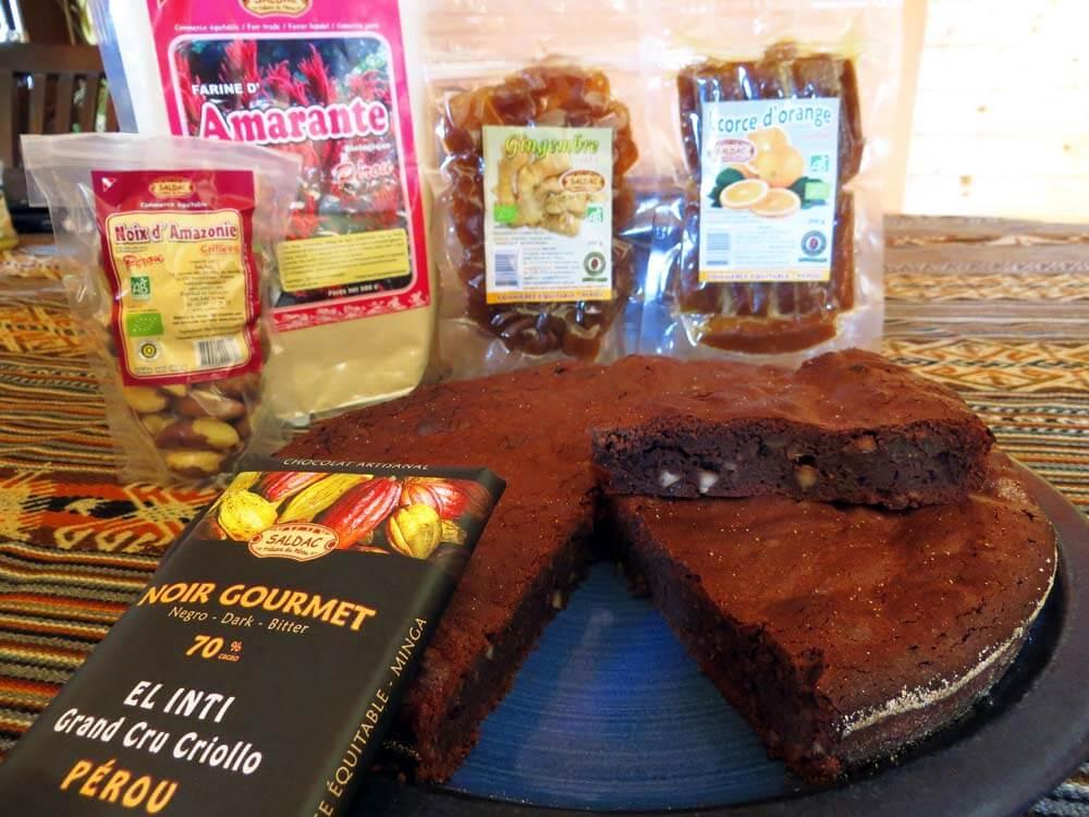 Brownie au chocolat, commerce equitable -SALDAC