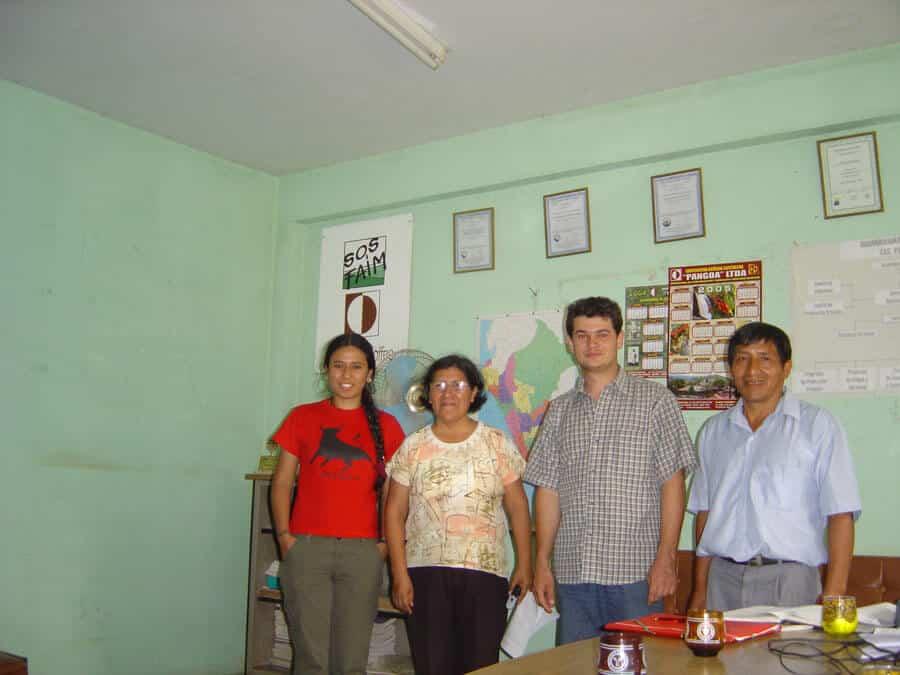 Avec la gérante et le président de la coopérative El inti