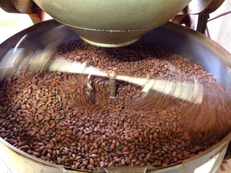 Refroidissement des fèves de cacao