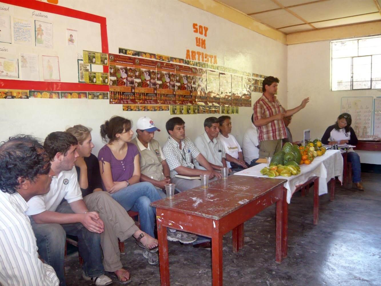 Réunion avec les producteurs de Corossol, Rio Negro 2009