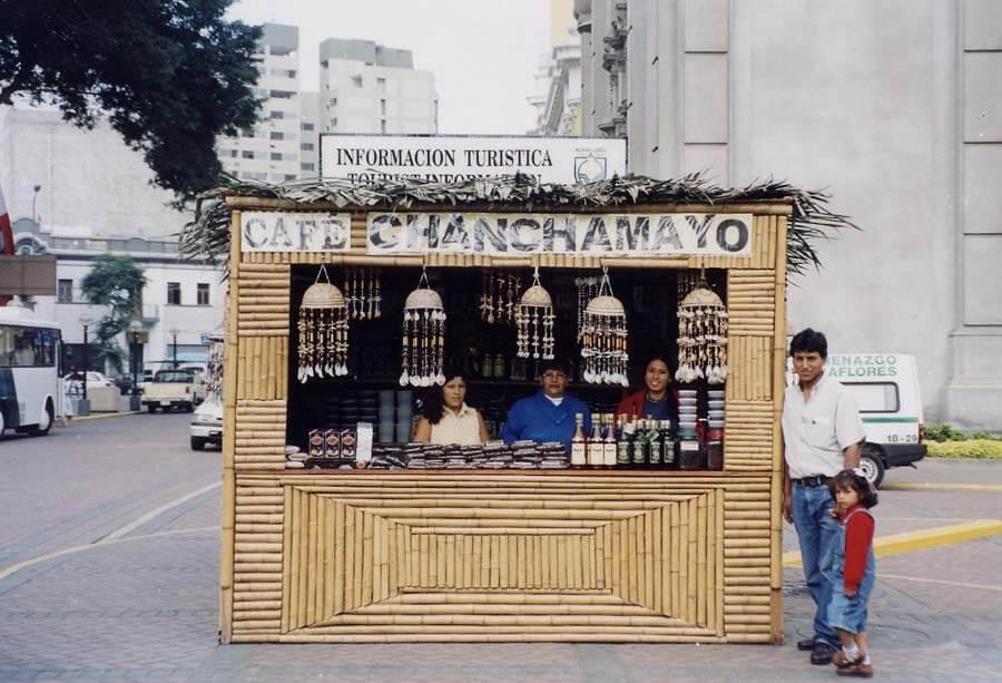 Un des stands à Lima (Miraflores)