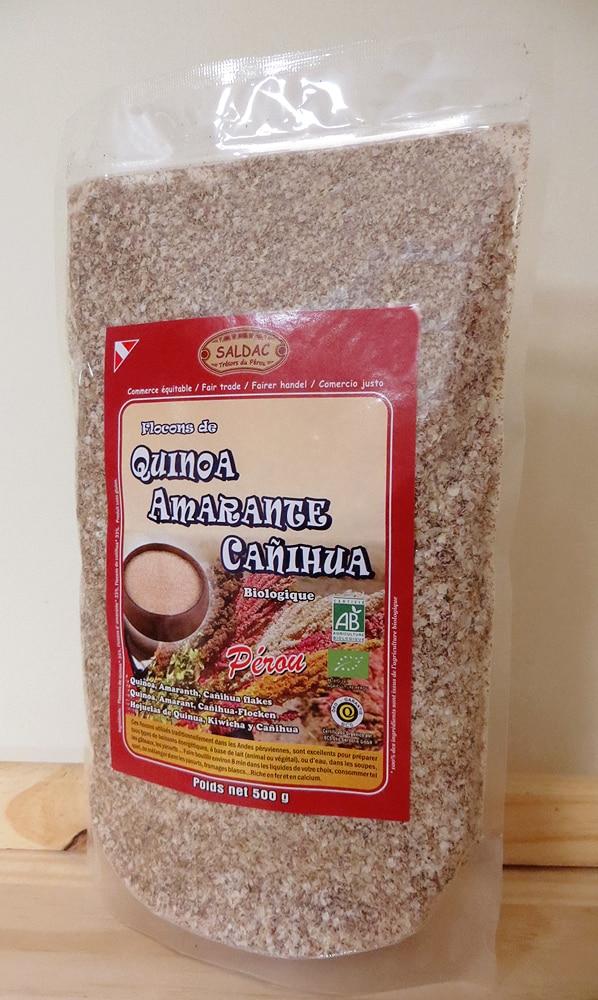 Mélange de Flocons : Quinoa Amarante & Canihua biologique