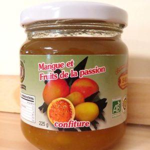 Confiture de mangue et fruits de la passion